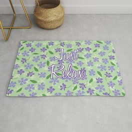 Periwinkles Flowers - Just Relax Rug