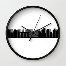 singapore skyline Wall Clock