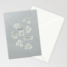 Tetris Papercut Stationery Cards