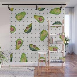 Avocado Polka Dots Wall Mural