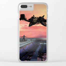 Landing Station Clear iPhone Case