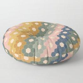 Hexagon Flowers Floor Pillow