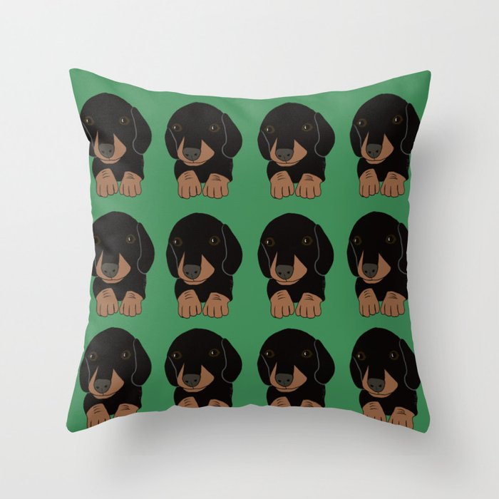 Dachshund Puppies Galore! Throw Pillow