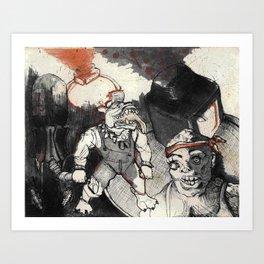 Toxic Crusaders Art Print