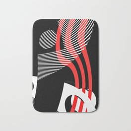 Black and white meets red Version 30 Bath Mat