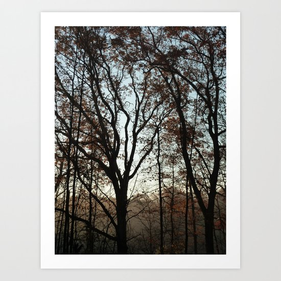 Tree Fingers Art Print