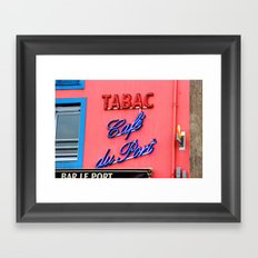 Café du Port Framed Art Print