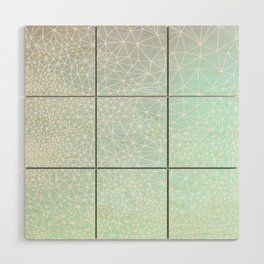 Organic Celestial Geometry on concrete and mint Wood Wall Art