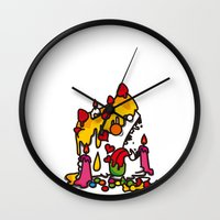 cake Wall Clocks featuring cake..... by sol_pro