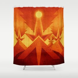 Mars - Cryptic Geysers Shower Curtain