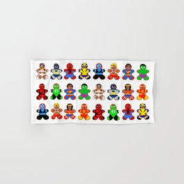 Superhero Gingerbread Man Hand & Bath Towel