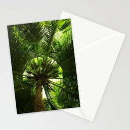 Green geometry Stationery Cards
