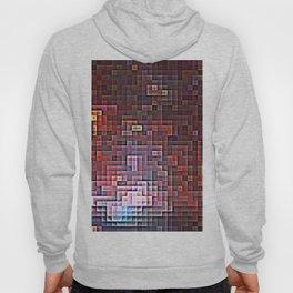 Burgundy Nebula Pixels Hoody