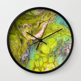 Green Bubbles Wall Clock