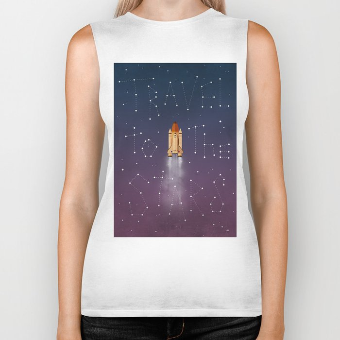 Travel to the Stars Biker Tank