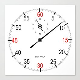 Stop Watch Face Canvas Print