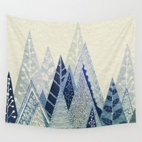 snow Wall Tapestries featuring Snow Top by rskinner1122