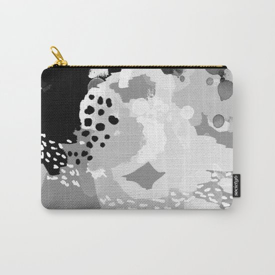 Rion - Modern minimal black and white abstract painting brooklyn nyc home decor canvas abstract art Carry-All Pouch