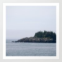 maine Art Prints featuring Maine by katharine stackhouse