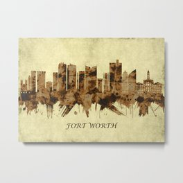 Fort Worth Texas Cityscape Metal Print