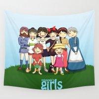 miyazaki Wall Tapestries featuring Miyazaki Girl's by TubaTOPAL