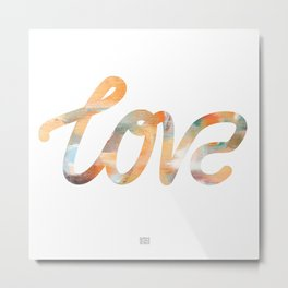 "The Love Series - ""Love"" #2 (typography) Metal Print"