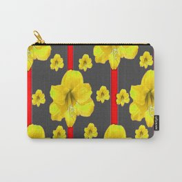 YELLOW AMARYLLIS BLACK-RED DECO ART Carry-All Pouch
