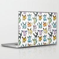 eevee Laptop & iPad Skins featuring Eeeveelution Doodle by KiraKiraDoodles