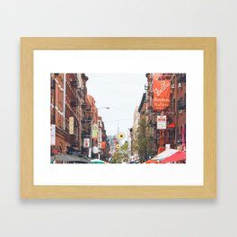 Mulberry Street Little Italy Framed Art Print