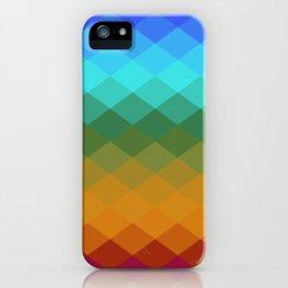Rhombs Vintage colors iPhone Case