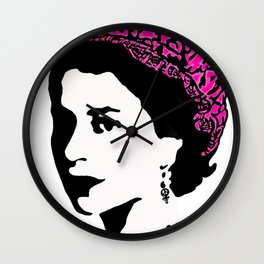The Queen and the pink pussy hat Wall Clock