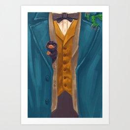 Newt Scamander (Costume + Critters) Art Print
