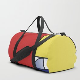 Mondrian vs Fibonacci Duffle Bag