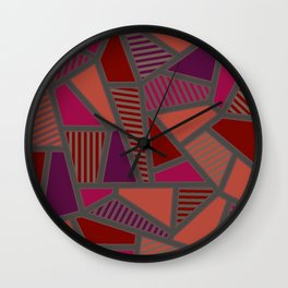 TRIANGLE TRIBES Wall Clock