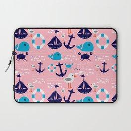 Summer boat pink Laptop Sleeve