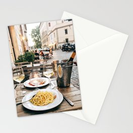 Dinner in Rome Stationery Cards