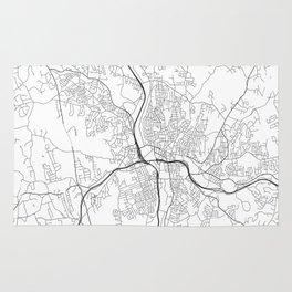 Minimal City Maps - Map Of Waterbury, Connecticut, United States Rug