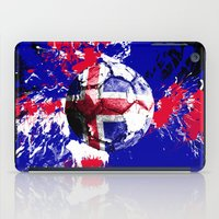 iceland iPad Cases featuring football Iceland by seb mcnulty