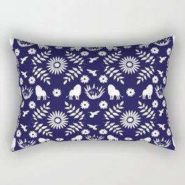 Otomi Lion Rectangular Pillow
