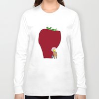 strawberry Long Sleeve T-shirts featuring strawberry by Madmi