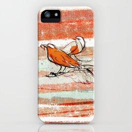 after summer / birds iPhone Case