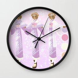 Carousel Maiden Design Sheet Wall Clock
