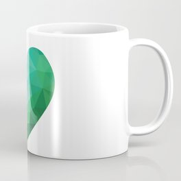 Teal Broken Heart Coffee Mug