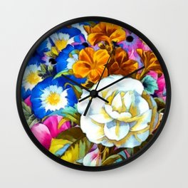 Colorful Floral Wall Clock