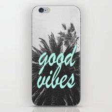 good vibes palm tree iPhone & iPod Skin