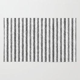 Silver and Black Faux Fox Fur Design Rug