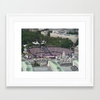 volleyball Framed Art Prints featuring Above Volleyball by limevines