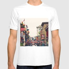 San Francisco China Town White MEDIUM Mens Fitted Tee