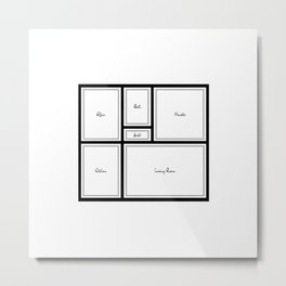 Little Apartment Plan Metal Print