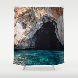 Grotto and Turquoise Sea Shower Curtain